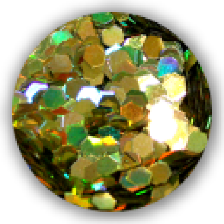 Dazzling Paillets 3mm -gold hologramm-