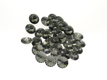 Swarovski Rivoli 8 mm -black diamond- 3 Stk